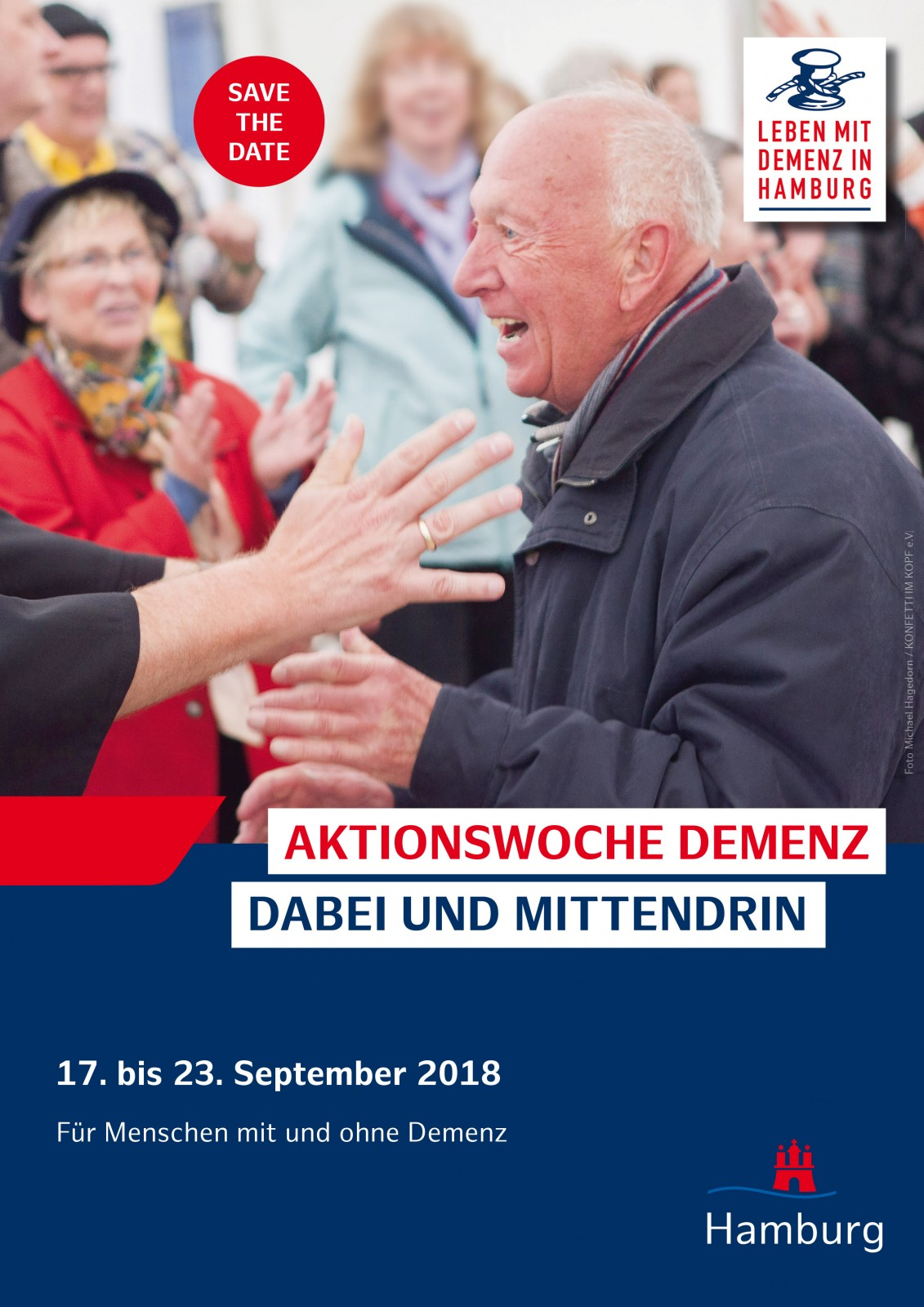 Save the date - Aktionswoche Demenz in Hamburg vom 17. bis  23.September